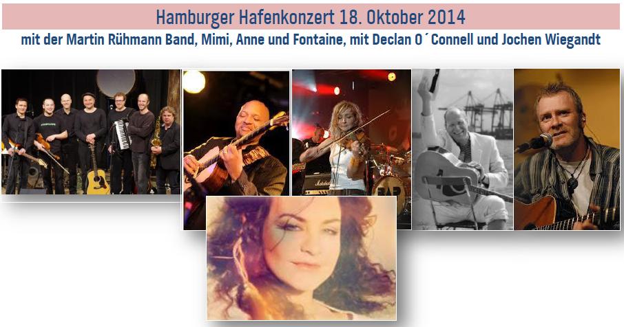 Das Hafenkonzert des NDR in Hamburg - ein Livekonzert unter Studiobedingungen und mit vielen tollen Musikerkollegen ...